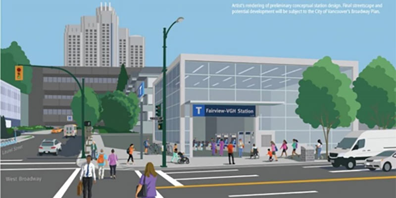 Fairview VGH-Station will serve the Vancouver General Hospital