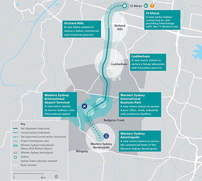 Fig 2. Link to new Western Sydney Airport