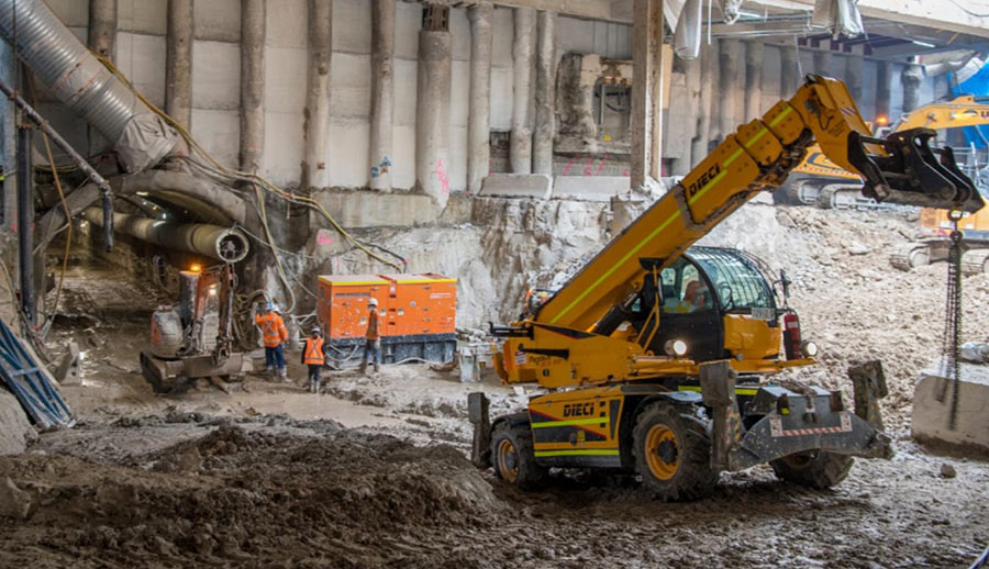 Excavation works at Central Station