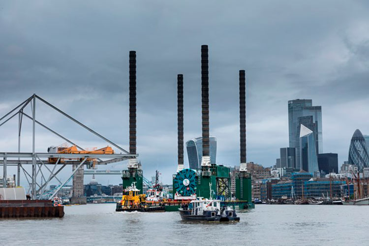 Final Tideway TBM arrives in London