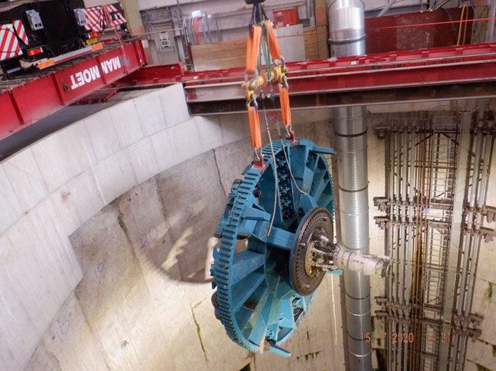 TBM to drive Greenwich connector is finally underground