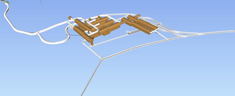 Fig 1. Scope of the underground treatment plant