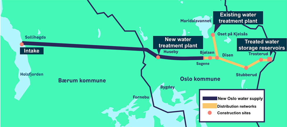 Fig 2. A 19km long raw water tunnel and an 11km clean water delivery tunnel are part of the project scope