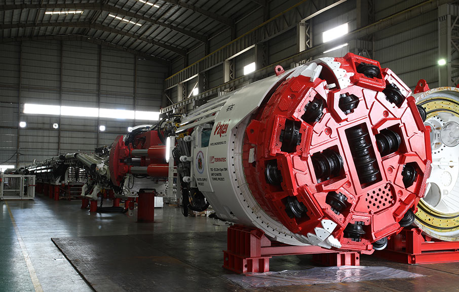3.2m diameter gripper TBM heading to Mumbai