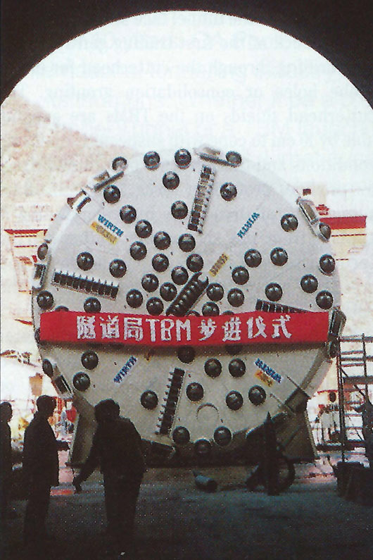 One of the two Wirth 8.8 m-diameter hard-rock TBMs