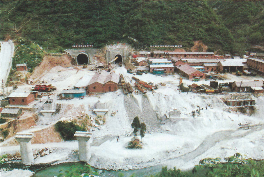 North portal site of the Qinling tunnel project