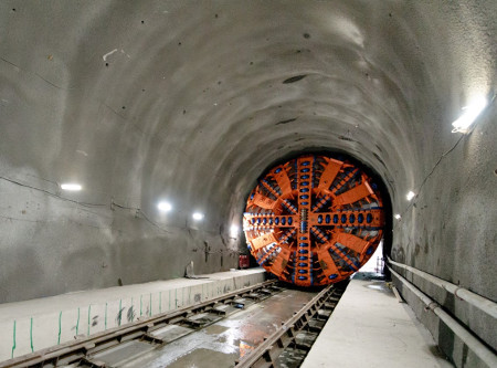 Second TBM in the outfall tunnel launch adit
