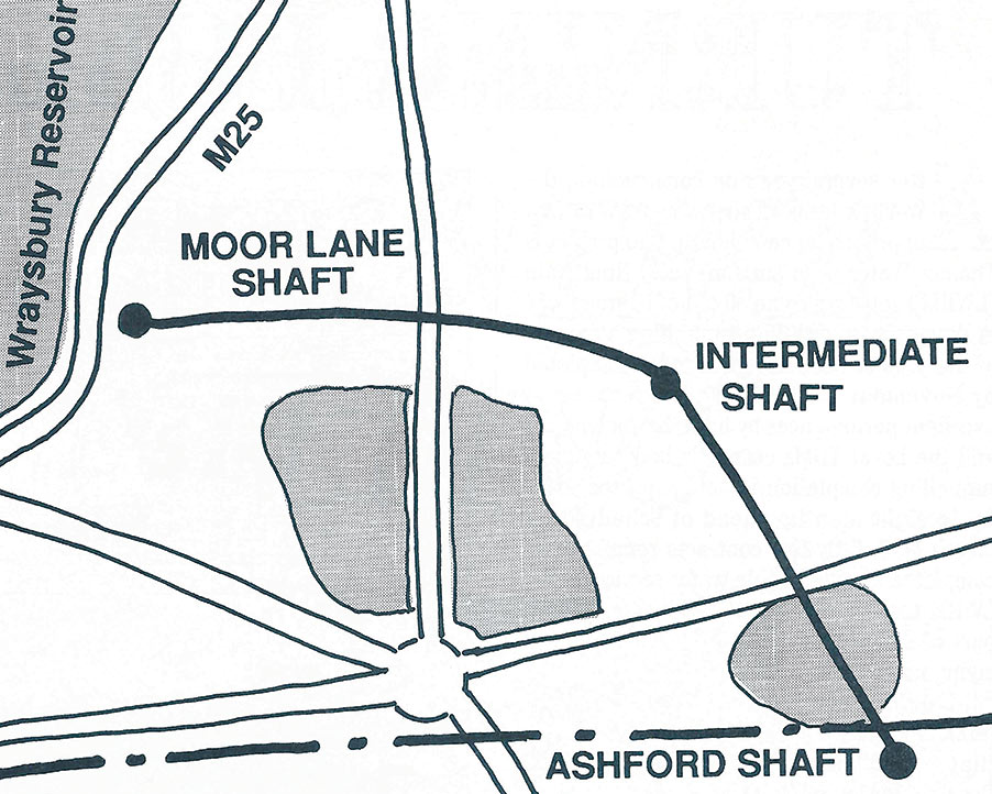 Fig 1. Plan of the Costain 7.8km contract for Thames Water