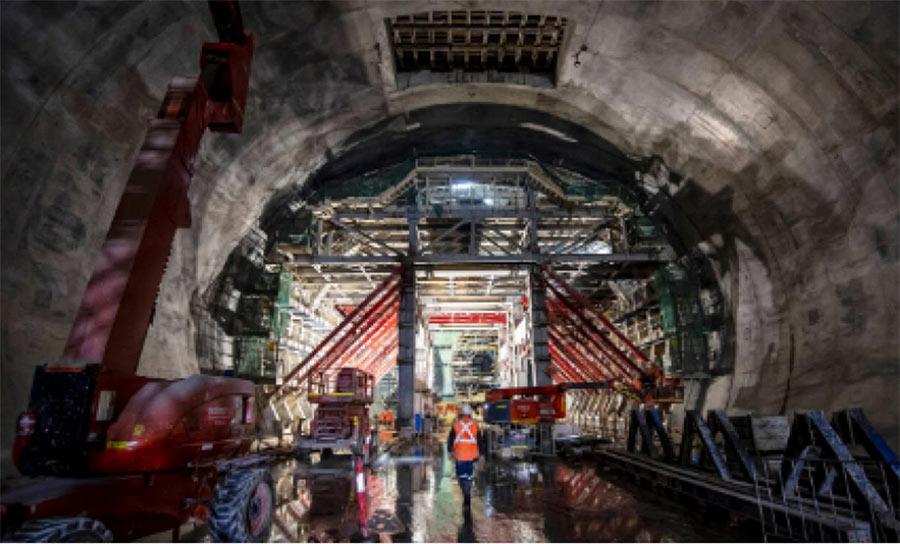 Victoria Station cavern, Sydney Metro, Australia