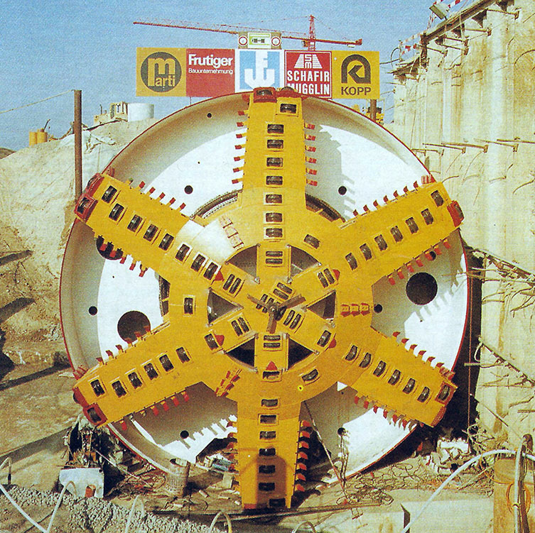 11.6m diameter Mixshield must convert from a slurry shield to the open mode and back again to complete the 5.5km long Grauholz double-track railway tunnel