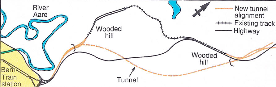 Fig 3. The new tunnel provides a high-speed link into the Bern station
