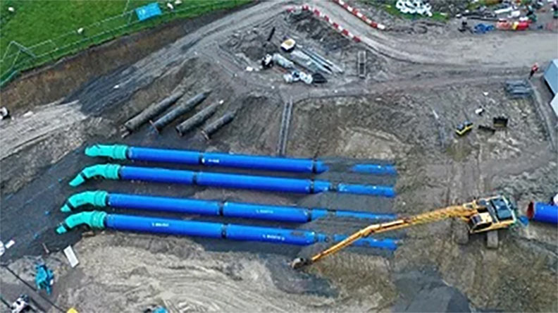 Northern connection of new Hallbank pipelines