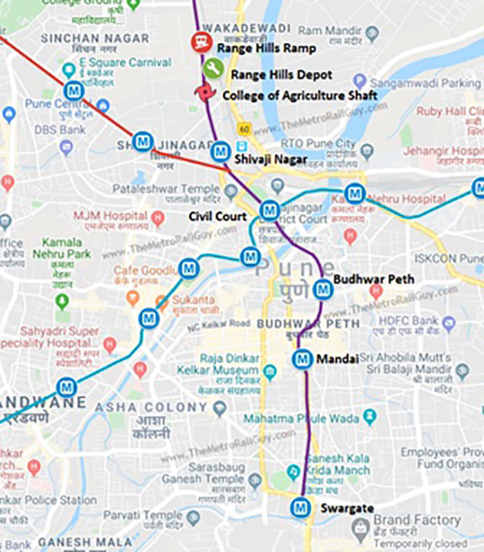 Pune Metro proposed route