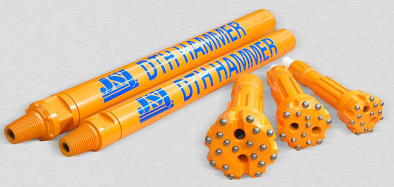 Drill bits for larger diameter DTH drilling