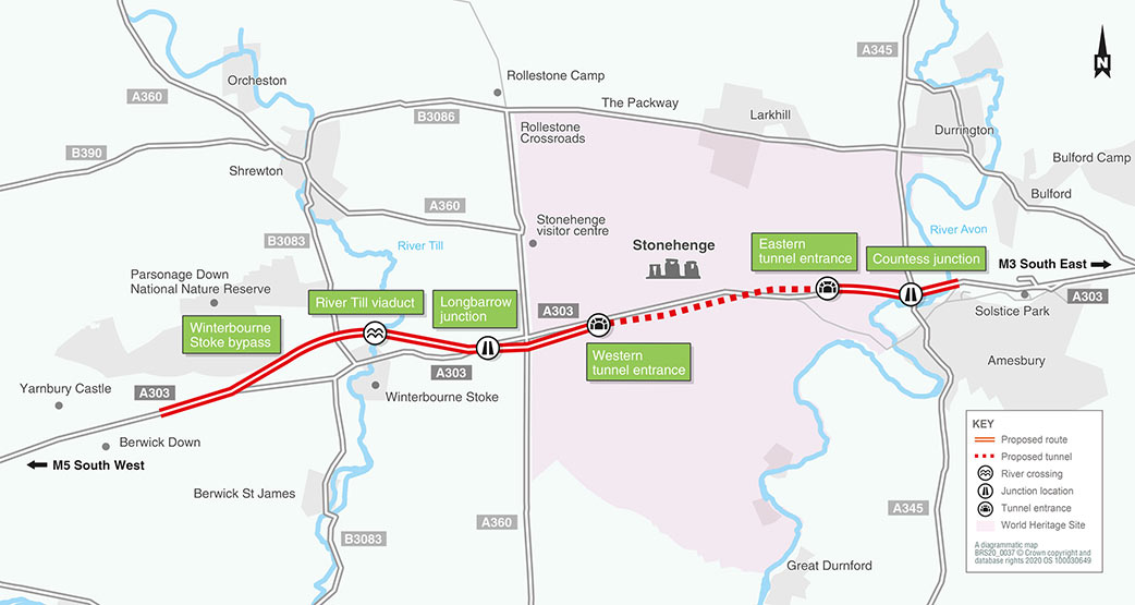 Main features of the proposed twin tube highway scheme