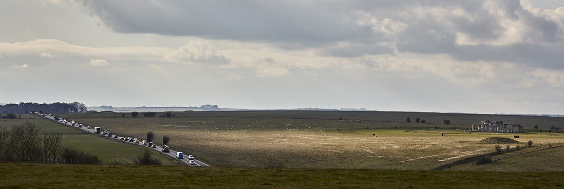 Existing road passes the ancient Stonehenge monument