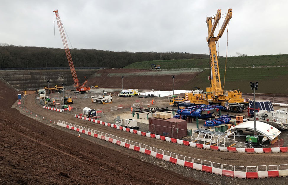 TBM parts arrive at Long Itchington launch site