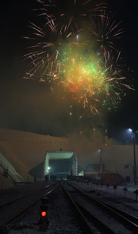 Official launch of the first Kuznetsovsky Tunnel in 2002