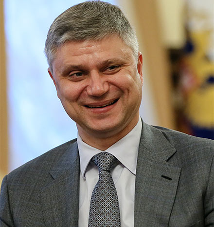Oleg Belozerov, head of RZD and one of the main initiators for doubling the capacity of the Kuznetsosvky Tunnel