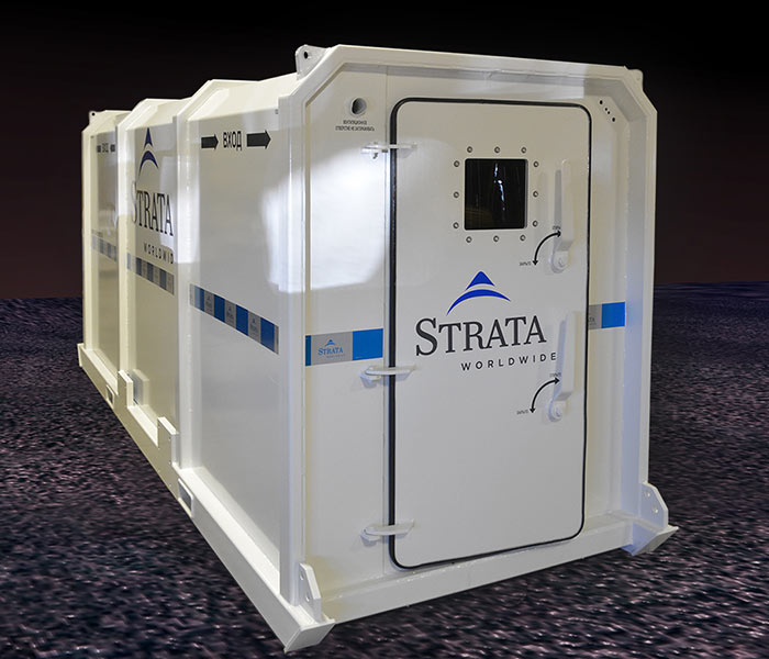 Strata safety refuge chambers available in different types, sizes and configurations