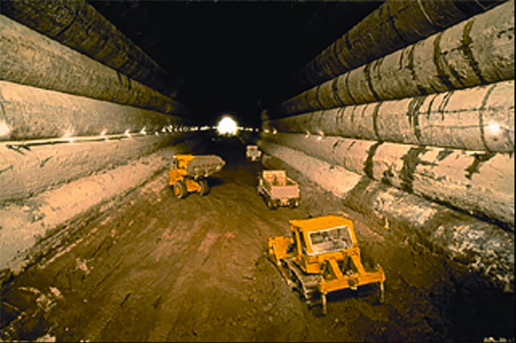 Core excavation completed of the 1,500ft long x 63.5ft inner diameter