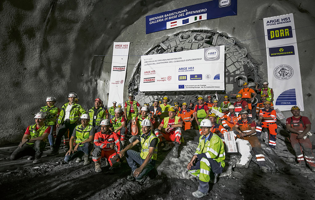 Gripper TBM from Herrenknecht completes 16.63km section of exploratory tunnel on north Austrian side in July 2020