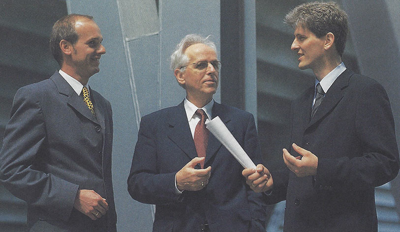 Since 1994, Blindow ran his own company with partner Martin Fedorcio (left) and son Axel (right)