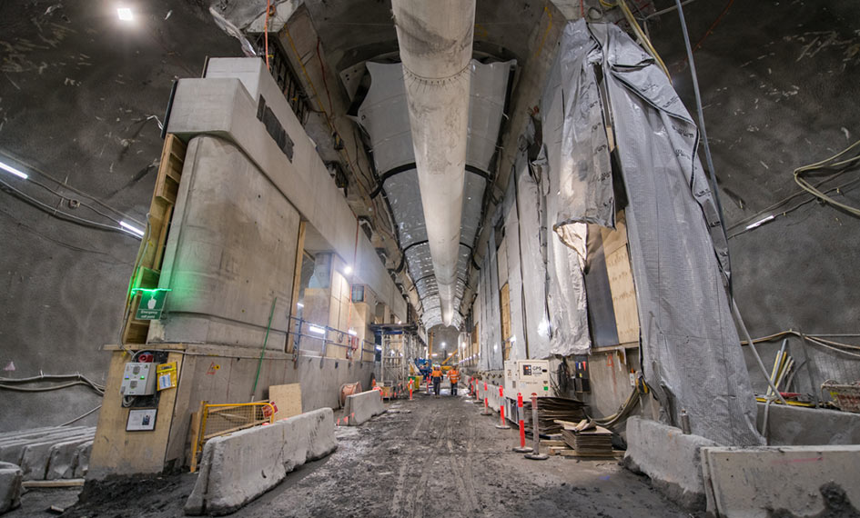 State Library Station cavern as at December 2020