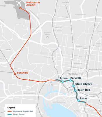 Fig 3. Metro alignment as part of new airport link