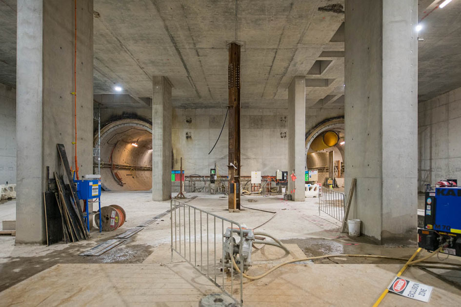 Arden Station construction in October 2020