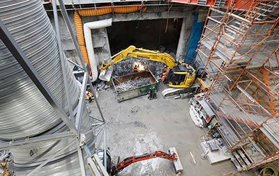 Completed portal structure at South Yarra