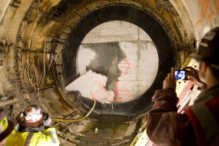 Lovat TBM breaks through shell of stranded TBM