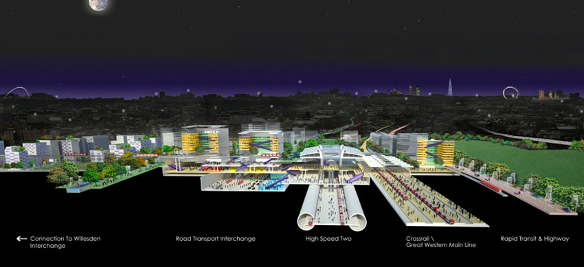 Vast new interchange to be built at Old Oak Common as part of the HS2 project