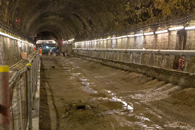Widening and repair of Connaught Tunnel (August 2013)