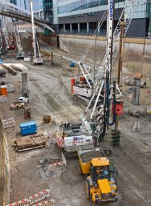 Canary Wharf construction