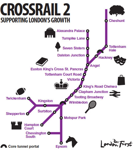 Crossrail 2 with connections