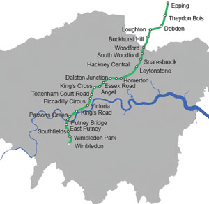 Safeguarded route for Crossrail 2