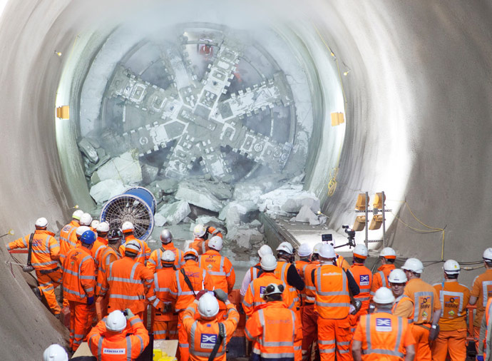 TBM Elizabeth breaks through at Whitechapel Station