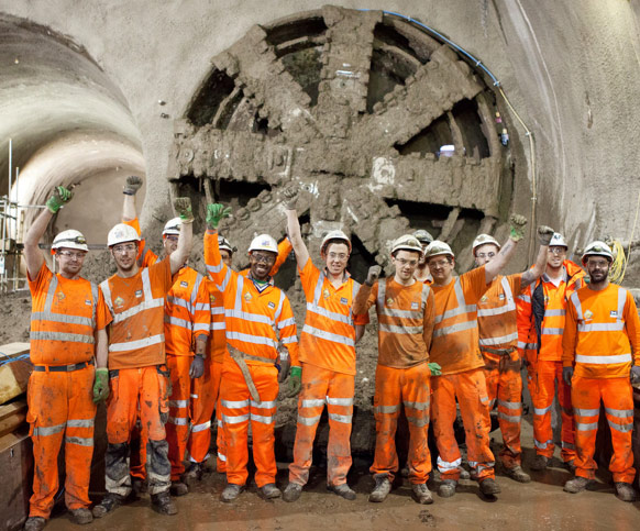 Celebrating TBM Victoria breakthrough at Stepney Green