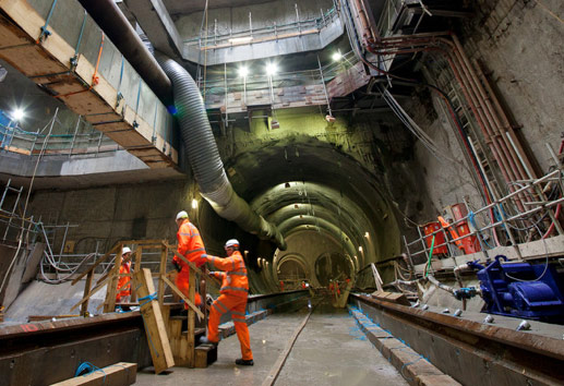 Stepney Green cavern awaits arrival of TBM Victoria
