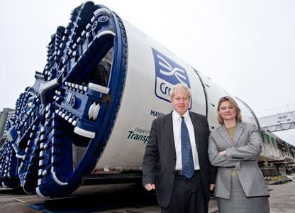 Transport Minister Greening and London Mayor Johnson