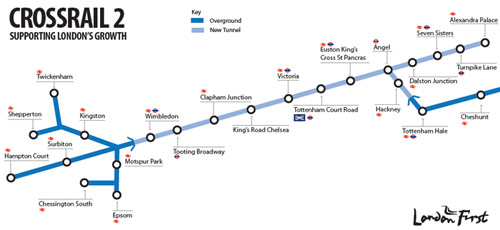 35km Crossrail 2 central tunnel section