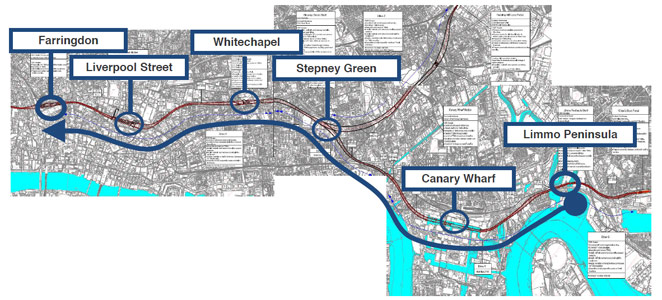 Fig 2. Crossrail's longest Drive Y tunnels ready to start
