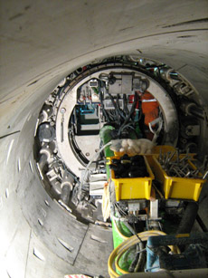 Pic8-Ring build area of the TBM