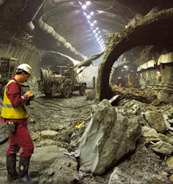 NATM excavation of the UK Channel Tunnel crossover chamber