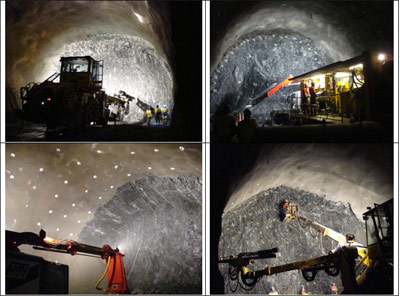 Examples of NMT tunnelling in action