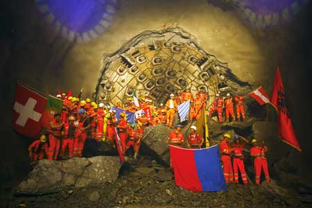 Era of excavation ends for Gotthard tunnellers