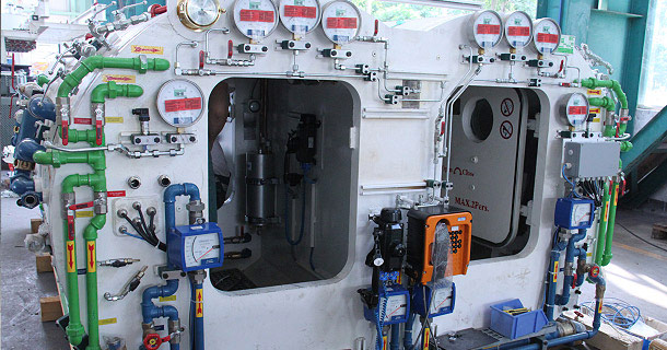 Typical TBM compressed air man-lock