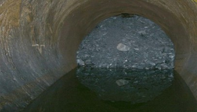 Hydro watercourse collapse after inauguration