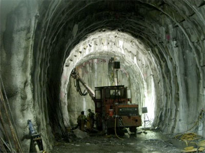 Work on the realigned starter tunnel progresses